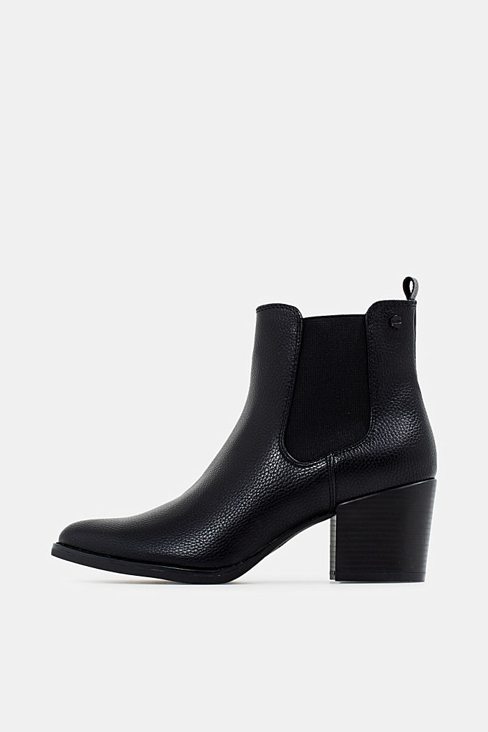 Heeled Chelsea boots, BLACK, overview