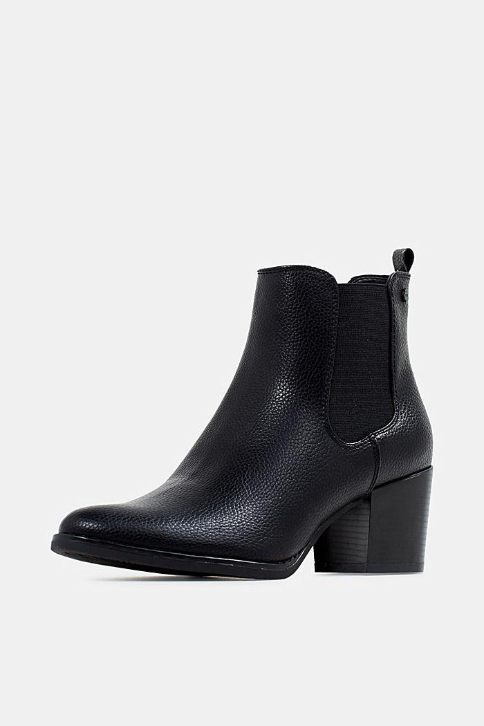 Chelsea Boots mit Absatz, BLACK, detail image number 2