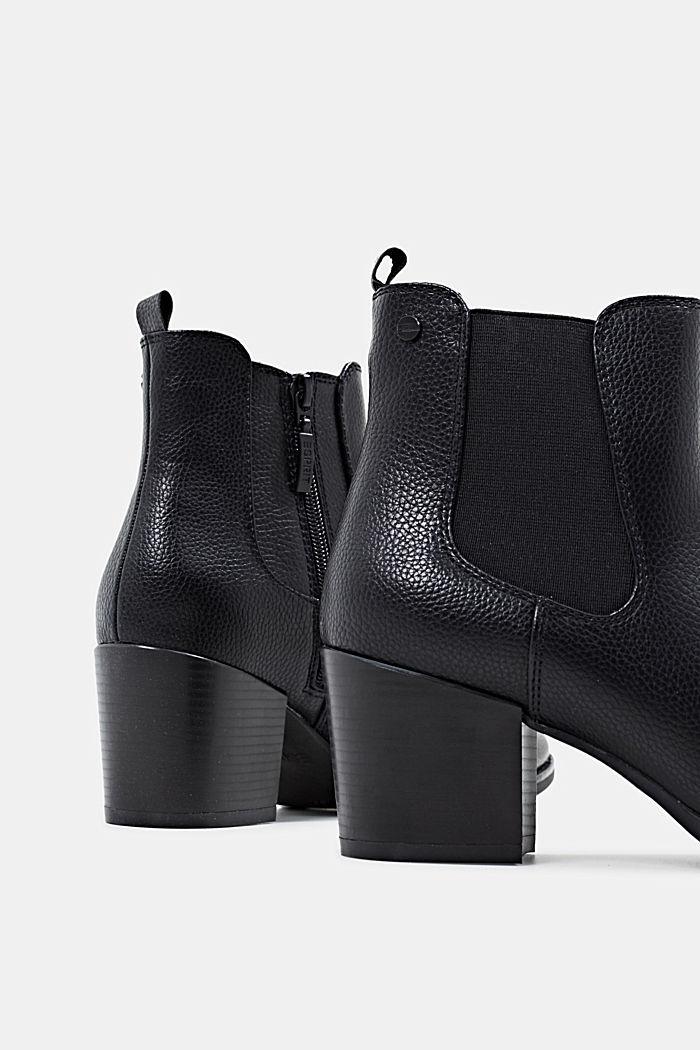 Chelsea Boots mit Absatz, BLACK, detail image number 5