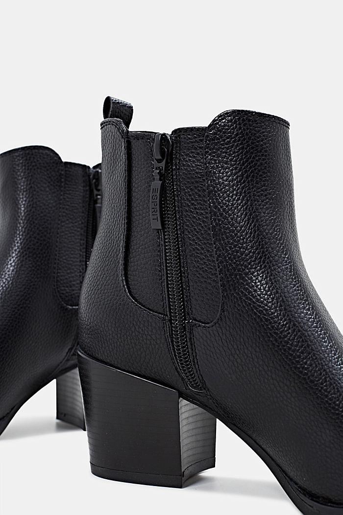 Chelsea Boots mit Absatz, BLACK, detail image number 4