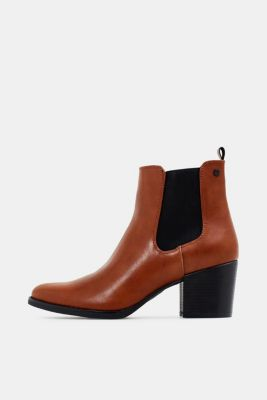 Heeled Chelsea boots, TOFFEE, detail