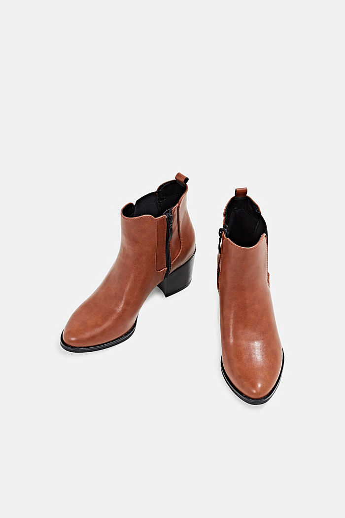 Heeled Chelsea boots, TOFFEE, detail image number 1