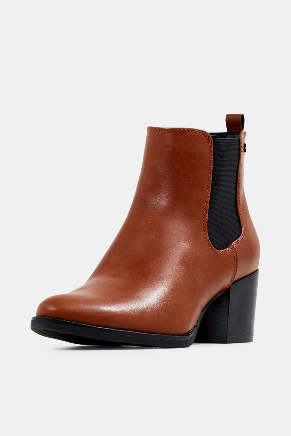Heeled Chelsea boots, TOFFEE, detail image number 2
