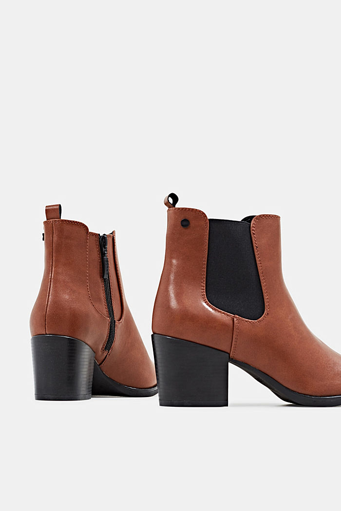 Heeled Chelsea boots, TOFFEE, detail image number 5