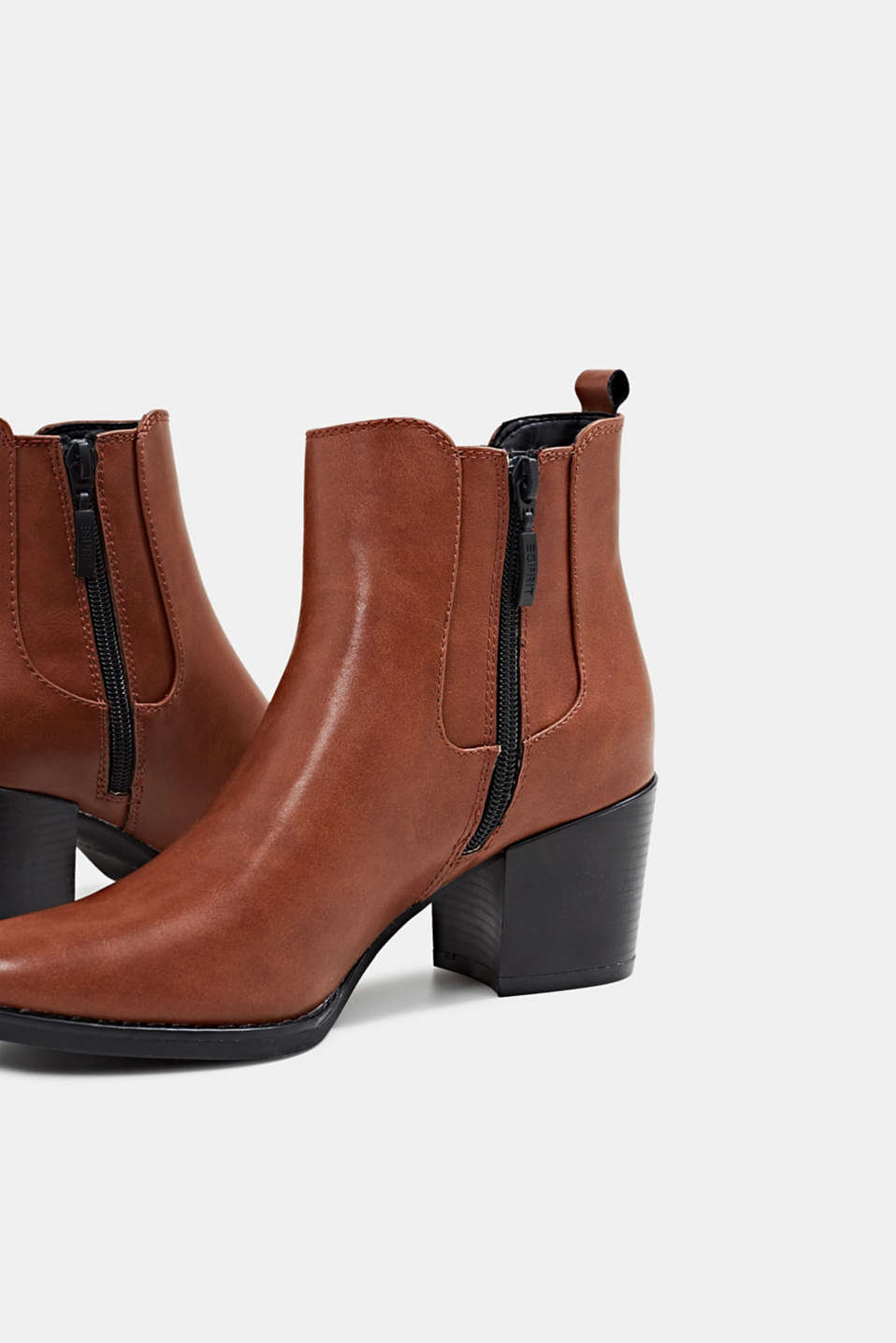 Heeled Chelsea boots, TOFFEE, detail image number 4
