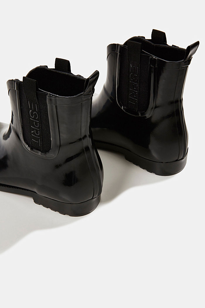 Wellington boots with logo tape, BLACK, detail image number 5