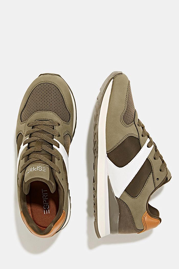 Sneakers in leerlook, LEAF GREEN, detail image number 1
