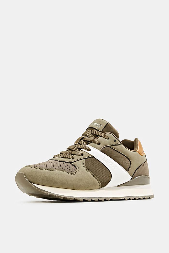 Sneakers in leerlook, LEAF GREEN, detail image number 2
