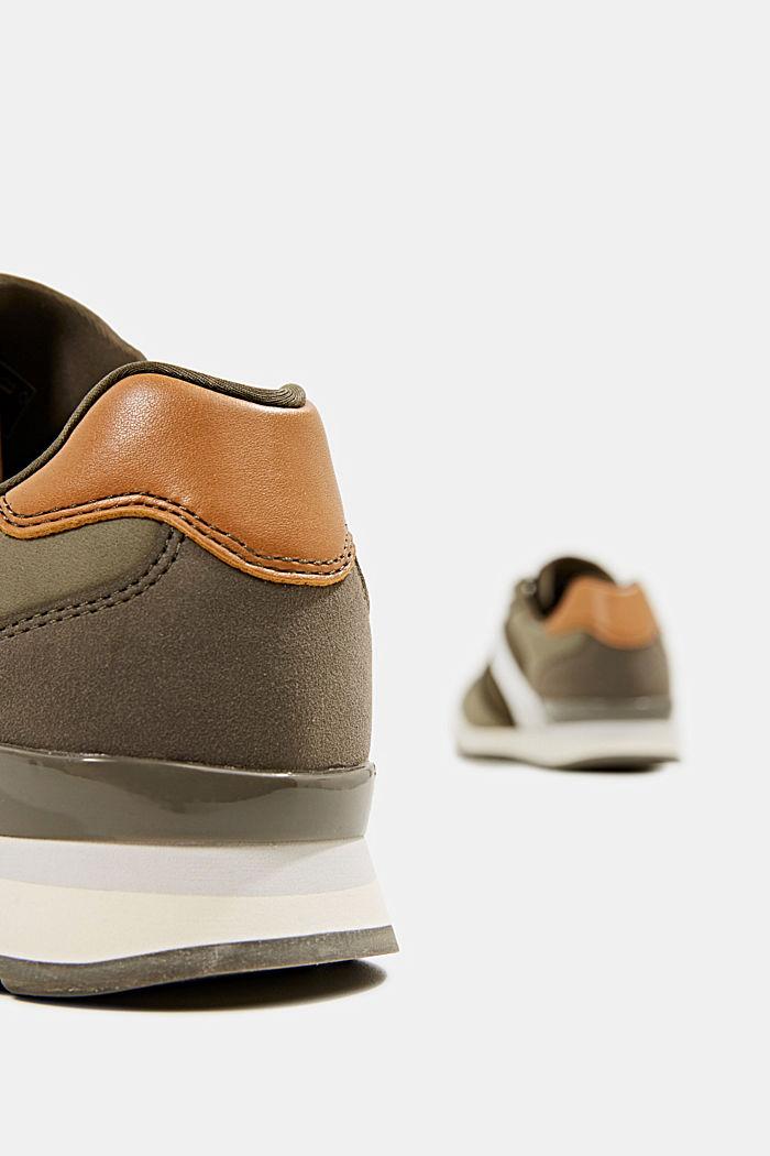 Sneakers in leerlook, LEAF GREEN, detail image number 5