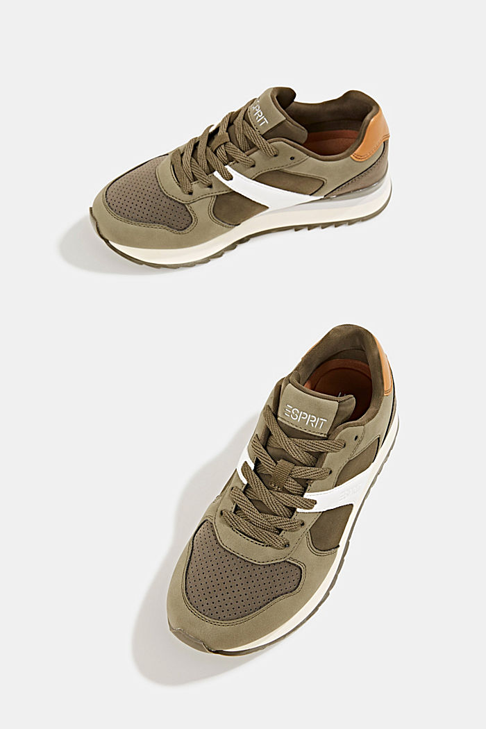 Faux leather trainers, LEAF GREEN, detail image number 6