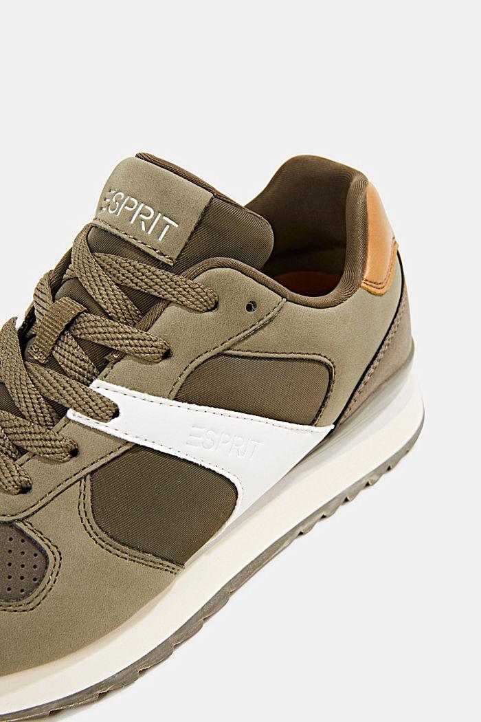 Sneakers in leerlook, LEAF GREEN, detail image number 4