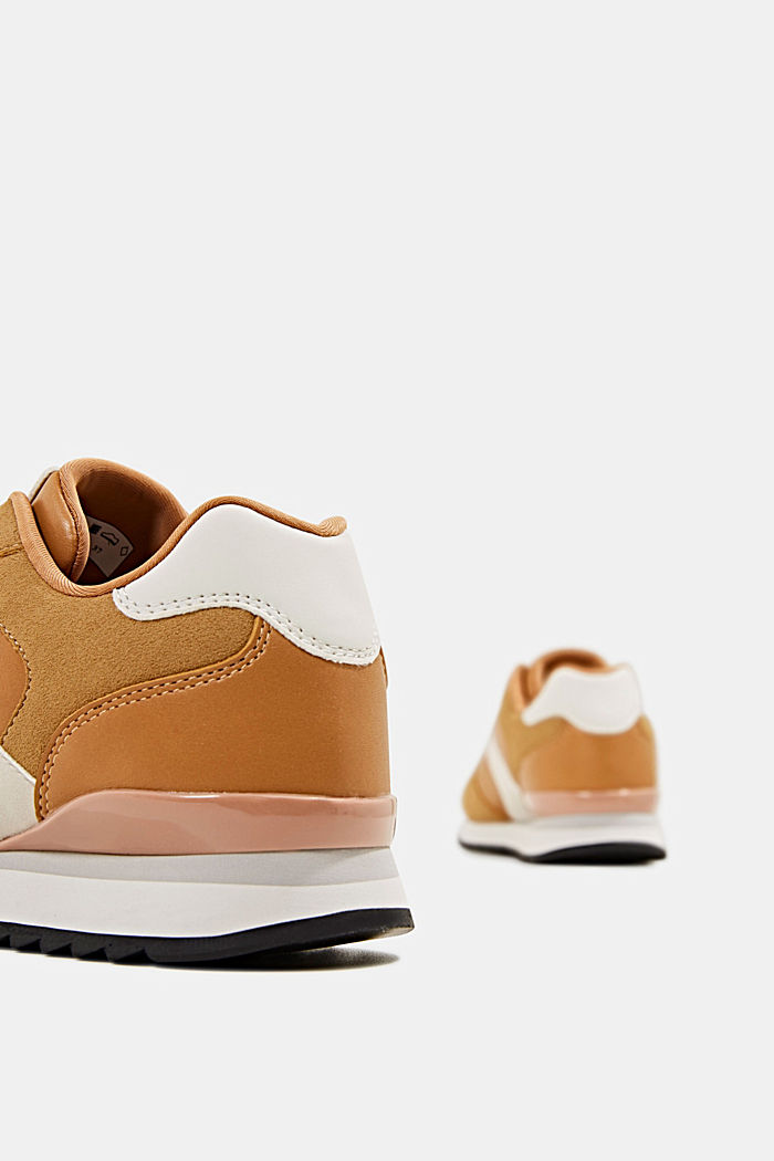 Faux leather trainers, AMBER YELLOW, detail image number 5
