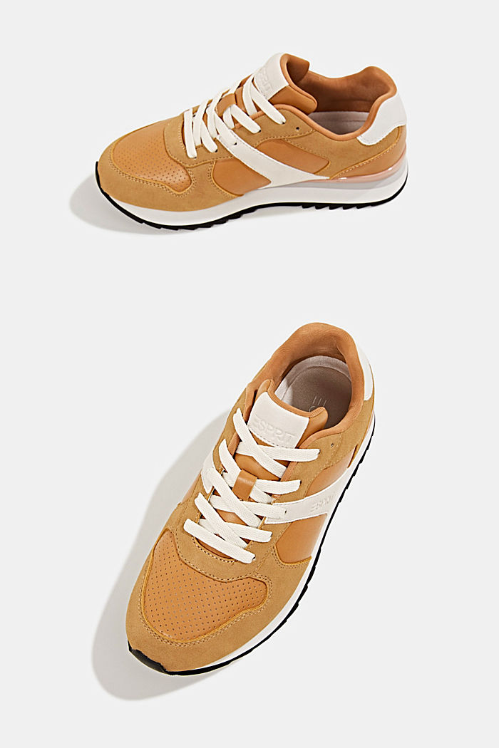 Faux leather trainers, AMBER YELLOW, detail image number 6