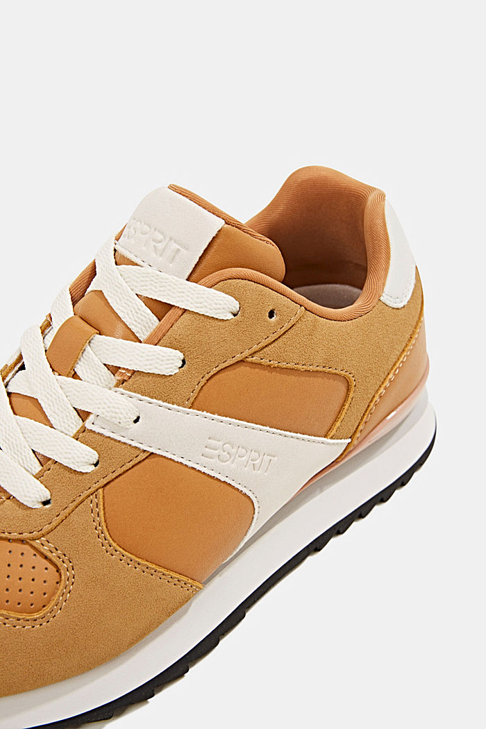 Faux leather trainers, AMBER YELLOW, detail image number 4