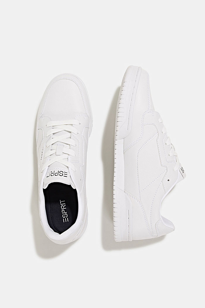 Faux leather trainers, WHITE, detail image number 6