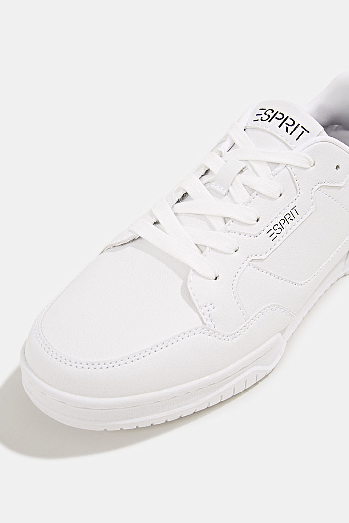 Faux leather trainers, WHITE, detail image number 4