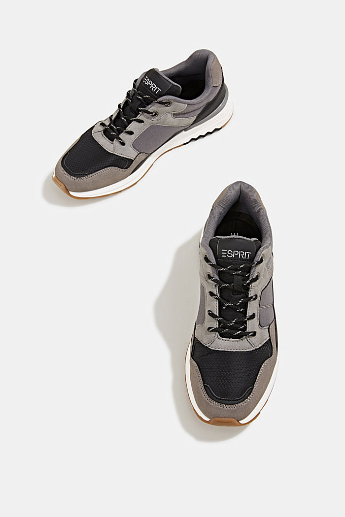 Trainers in a mix of materials, GREY, detail image number 1