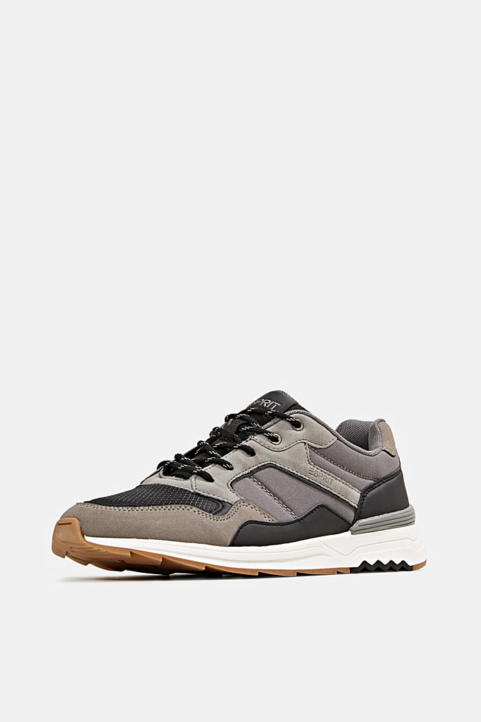 Trainers in a mix of materials, GREY, detail image number 2