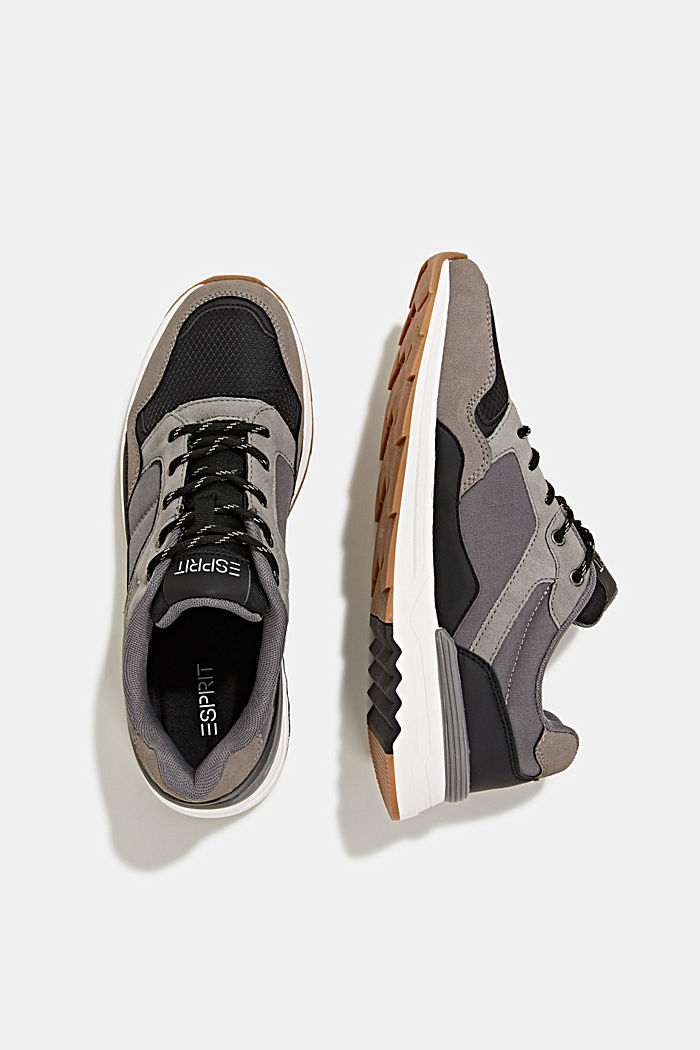 Trainers in a mix of materials, GREY, detail image number 6