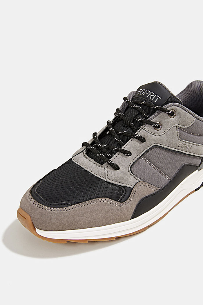 Trainers in a mix of materials, GREY, detail image number 4