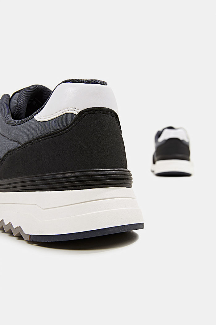 Trainers in a mix of materials, NAVY, detail image number 5