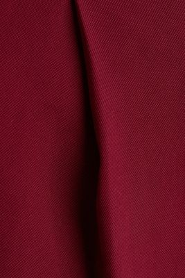 Made of LENZING™ ECOVERO™: Wide trousers, BORDEAUX RED, detail