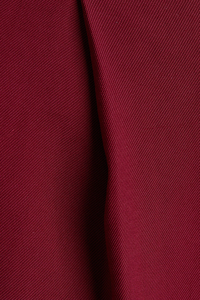 Made of LENZING™ ECOVERO™: Wide trousers, BORDEAUX RED, detail image number 4