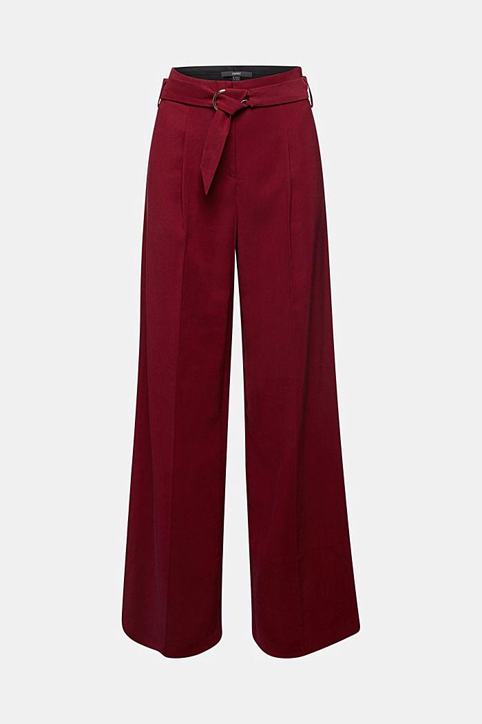 Aus LENZING™ ECOVERO™: Weite Hose, BORDEAUX RED, detail image number 6