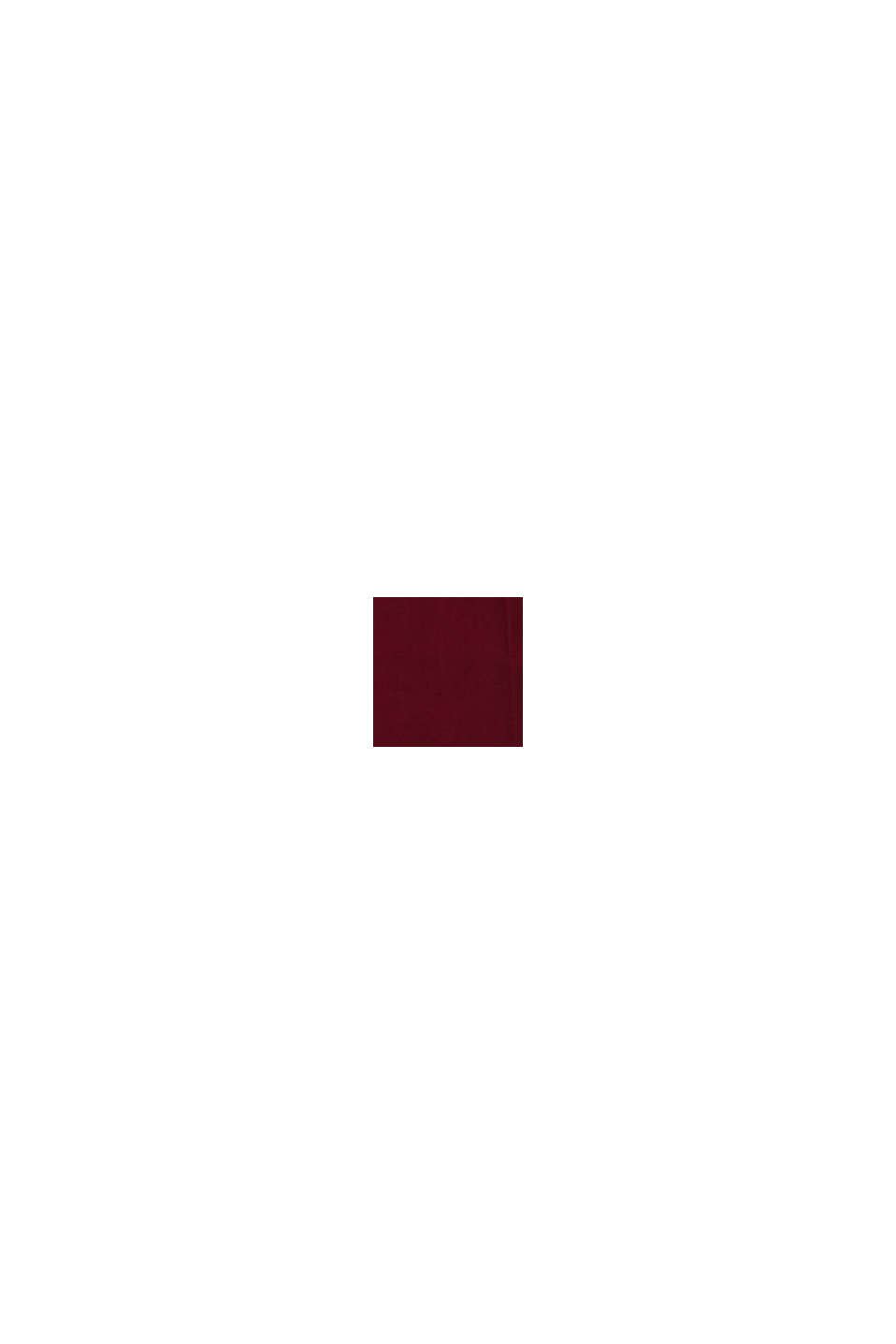 LENZING™ ECOVERO™ -materiaalia: Leveät housut, BORDEAUX RED, swatch