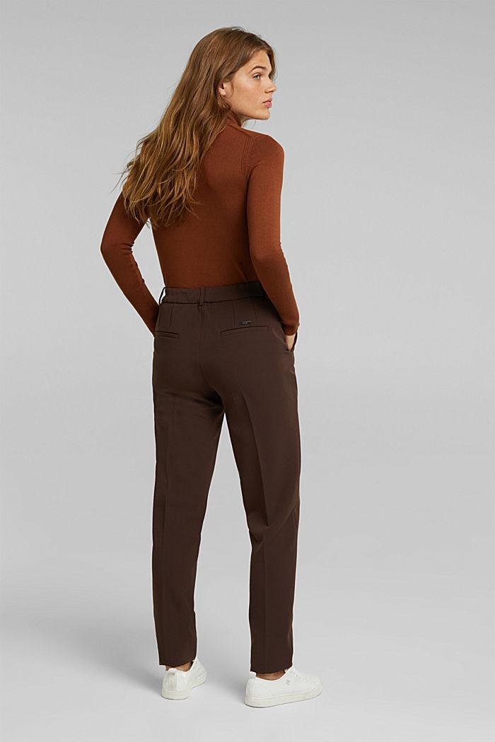 Pantalón elástico con cintura elástica, DARK BROWN, detail image number 3