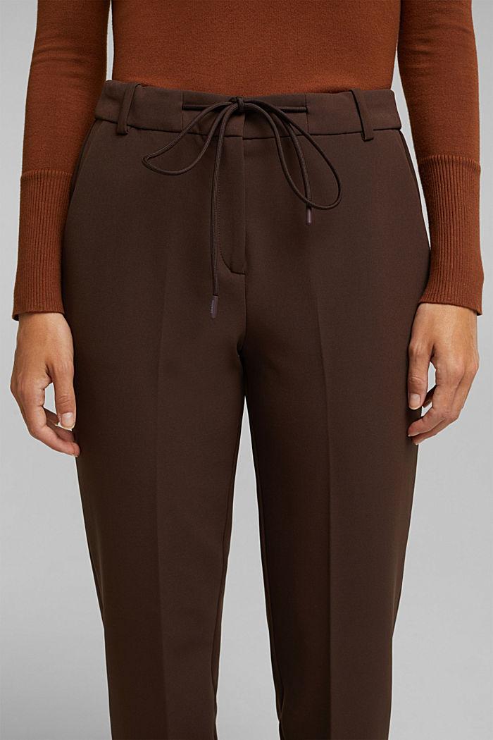 Pantalón elástico con cintura elástica, DARK BROWN, detail image number 2