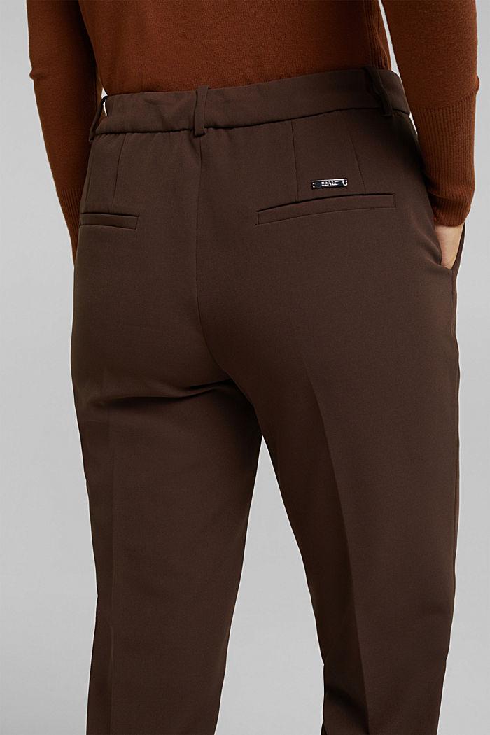Pantalón elástico con cintura elástica, DARK BROWN, detail image number 5