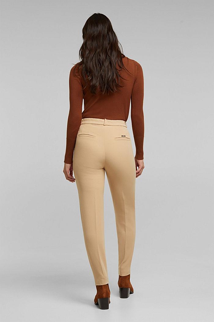 Pantalón elástico con cintura elástica, BEIGE, detail image number 3