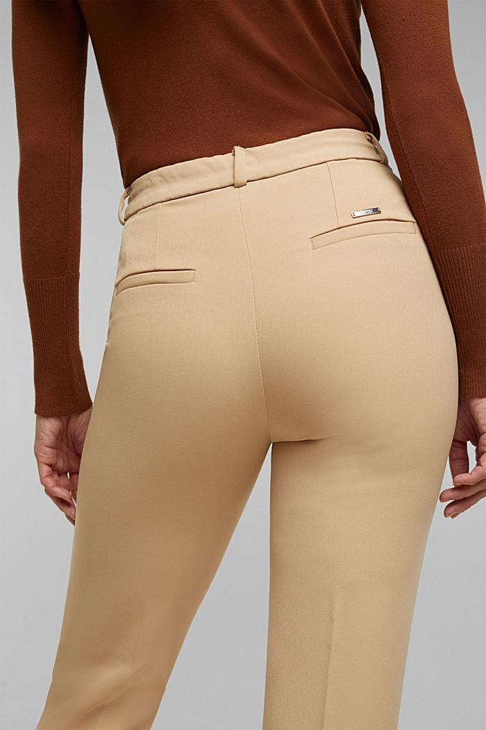 Pantalón elástico con cintura elástica, BEIGE, detail image number 5