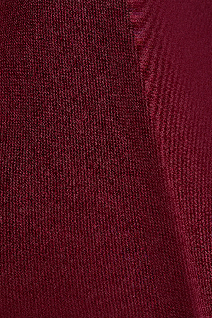 Stretch trousers with an elasticated waistband, BORDEAUX RED, detail image number 4