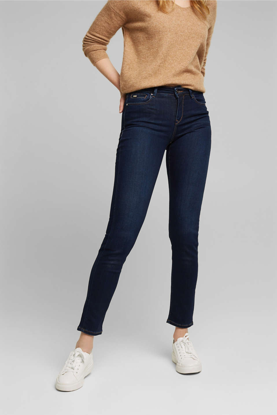 Esprit - Business jeans met comfortabele stretch