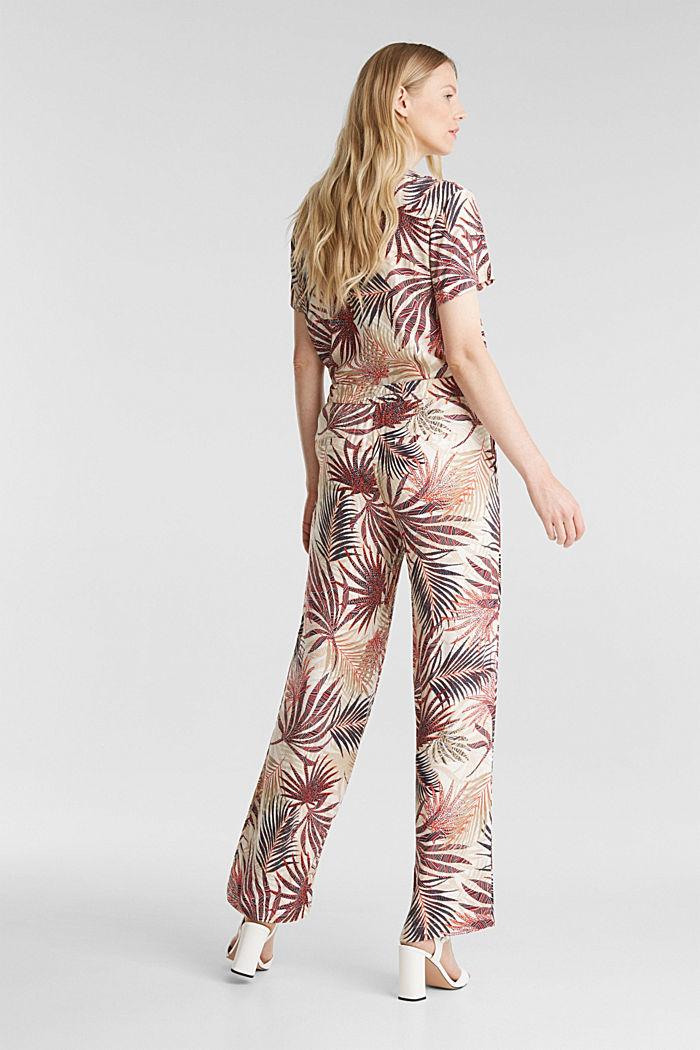 Weite Hose mit tropischem Print, BEIGE, detail image number 2