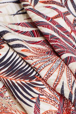 Wide-leg trousers with tropical print, BEIGE 4, detail