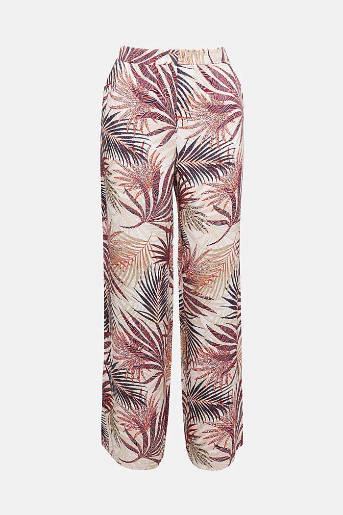 Weite Hose mit tropischem Print