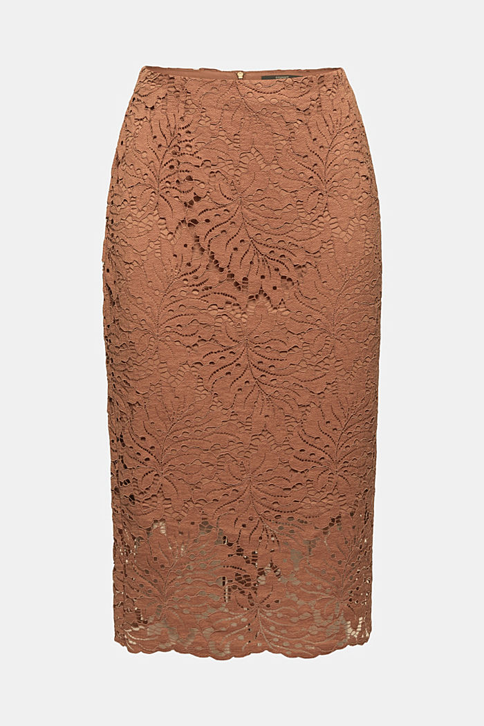 Tropical lace midi skirt