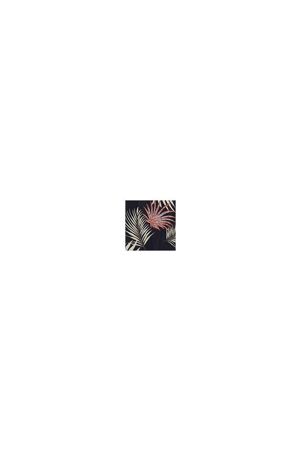 Robe de longueur midi à imprimé palmiers, BLACK, swatch
