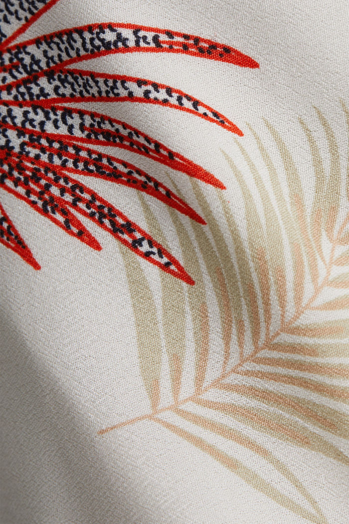 Midi dress with a palm tree print, BEIGE, detail image number 4
