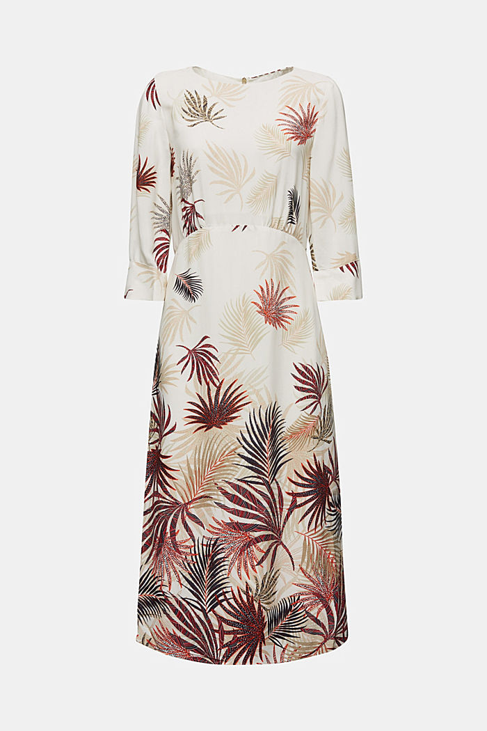 Midi dress with a palm tree print