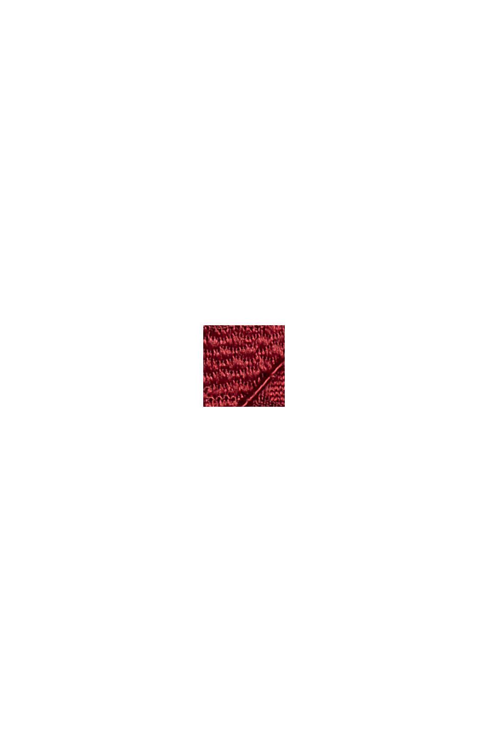 Midikleid aus Spitze im Etui-Stil, BORDEAUX RED, swatch