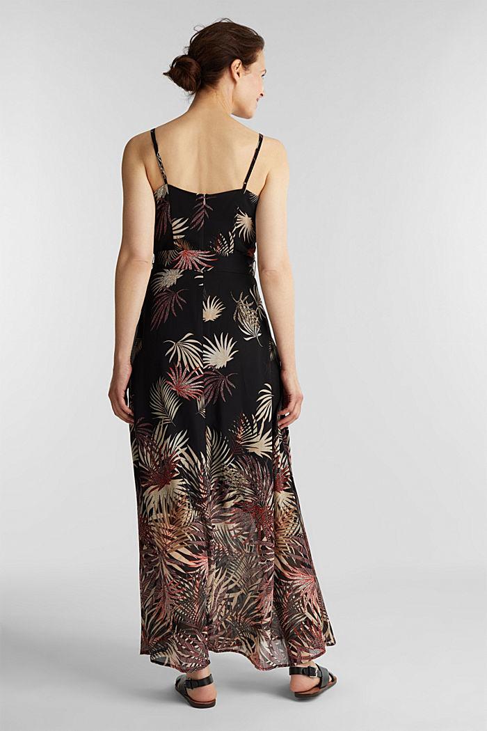Vestido de gasa con estampado, reciclado, BLACK, detail image number 2