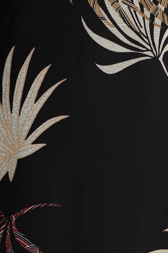 Vestido de gasa con estampado, reciclado, BLACK, detail image number 4