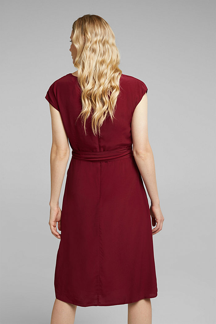 Soft dress with LENZING™ ECOVERO™, BORDEAUX RED, detail image number 2