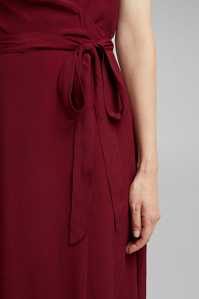 Soft dress with LENZING™ ECOVERO™, BORDEAUX RED, detail image number 3