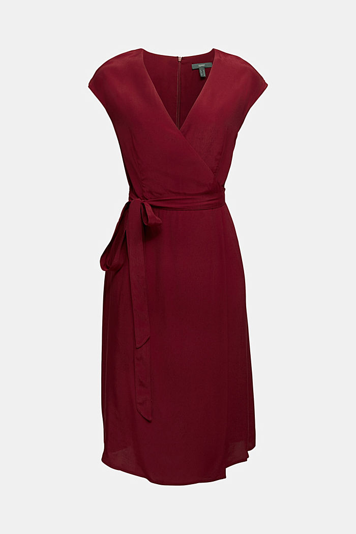 Soft dress with LENZING™ ECOVERO™, BORDEAUX RED, detail image number 6