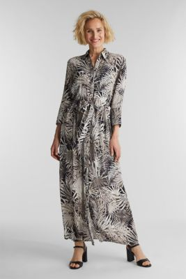 Maxi dress with a palm tree print, BLACK 3, detail